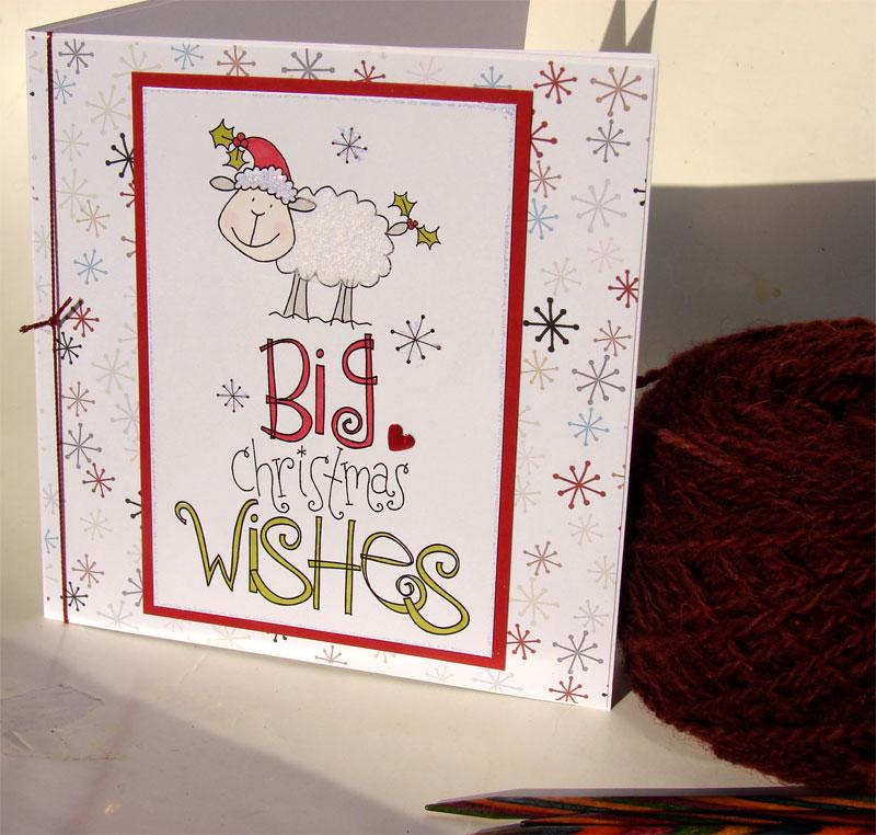 Handmade knitting / spinning Christmas cards