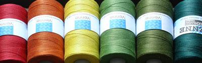 Mercerised cotton weaving yarns