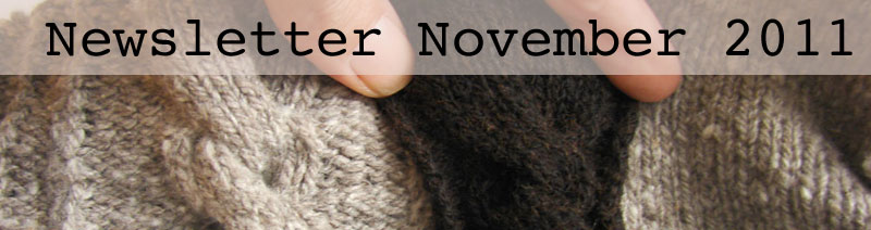 Banner image - knitted cable samples in grey and black