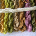 Dyed mohair